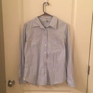 J Crew Powder Blue Button Up Dress Shirt